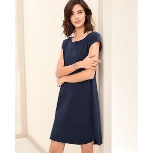 EILEEN FISHER | Navy Organic-Cotton T-Shirt Dress